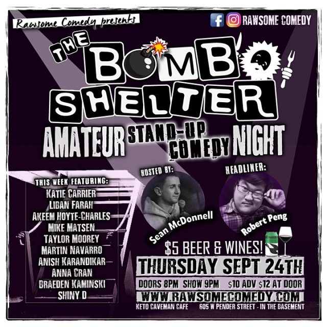 The Bomb Shelter Amateur Stand-up Comedy Night