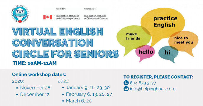 Virtual English Conversation Circle for Seniors